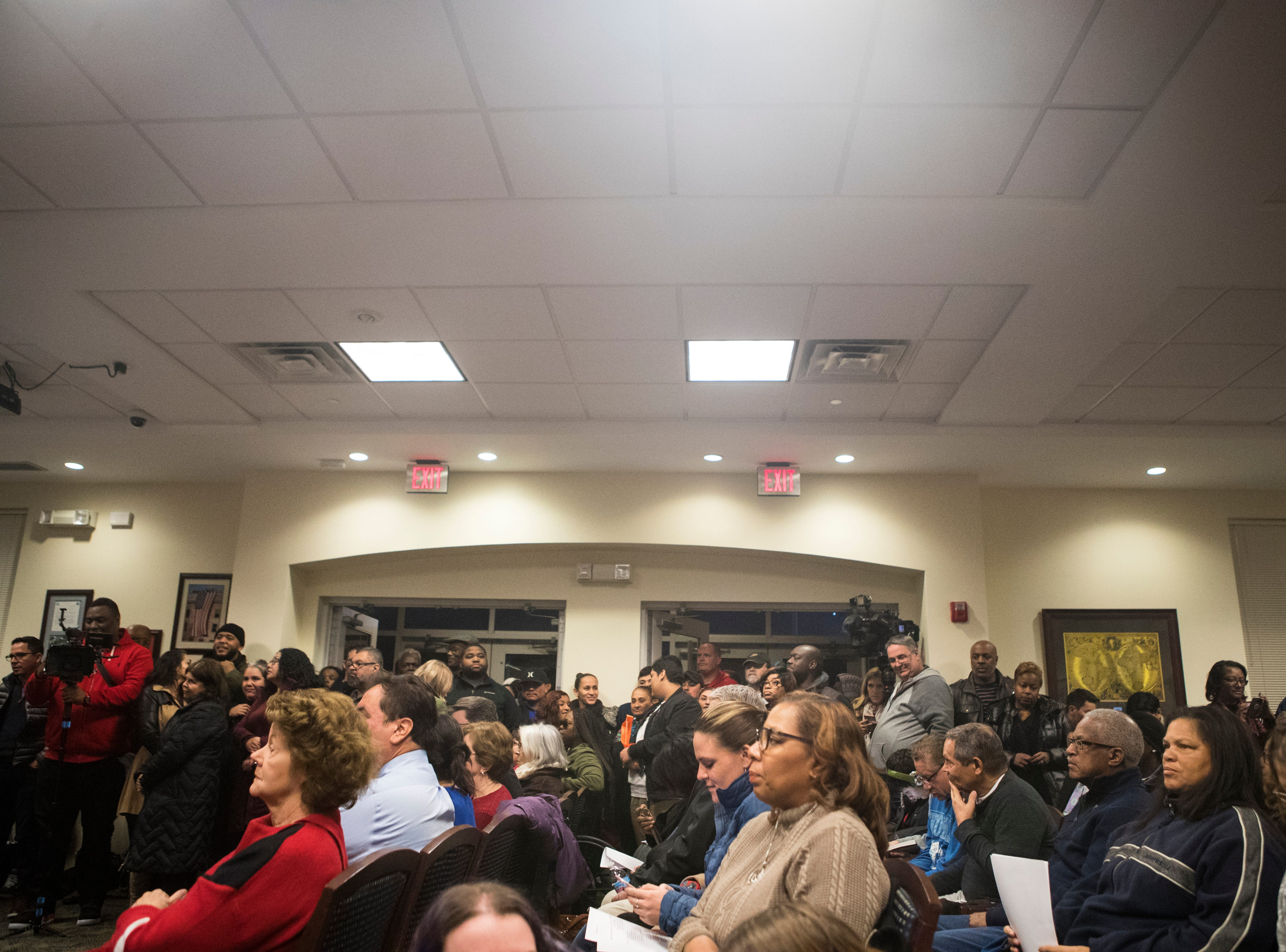 The room was standing room only at the Middletown City Council meeting Monday night at Town Hall.