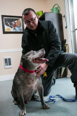 Pete Buchmann, the homeless pet owner who once walked 5 miles daily to visit his dog at Faithful Friends is no longer on the streets and he is now fostering a new dog named Matteo after his previous dog, Buster, died.