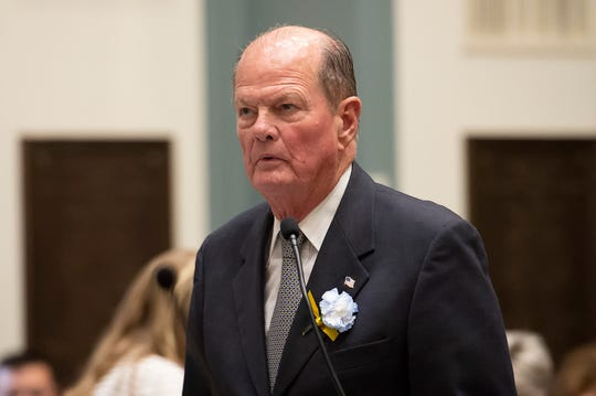 State Sen. David McBride, D-New Castle is seen during the start of the 150th General Assembly at Legislative Hall in Dover.