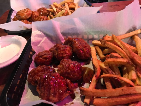 Teriyaki and honey garlic are two sauce choices at Rookies Sports Pub in Stevens Point.