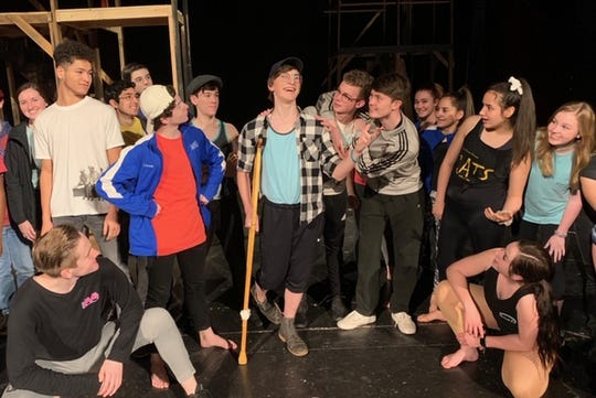 """Cast members of """"Newsies"""" prepare for the opening musical of the 2019 Wichita Theatre season to kick off Feb 8."""