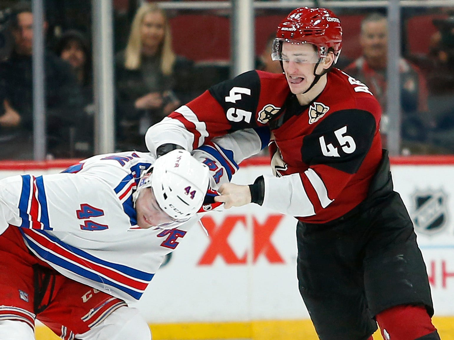 Jan. 6: Arizona Coyotes' Josh Archibald vs. New York Rangers' Neal Pionk
