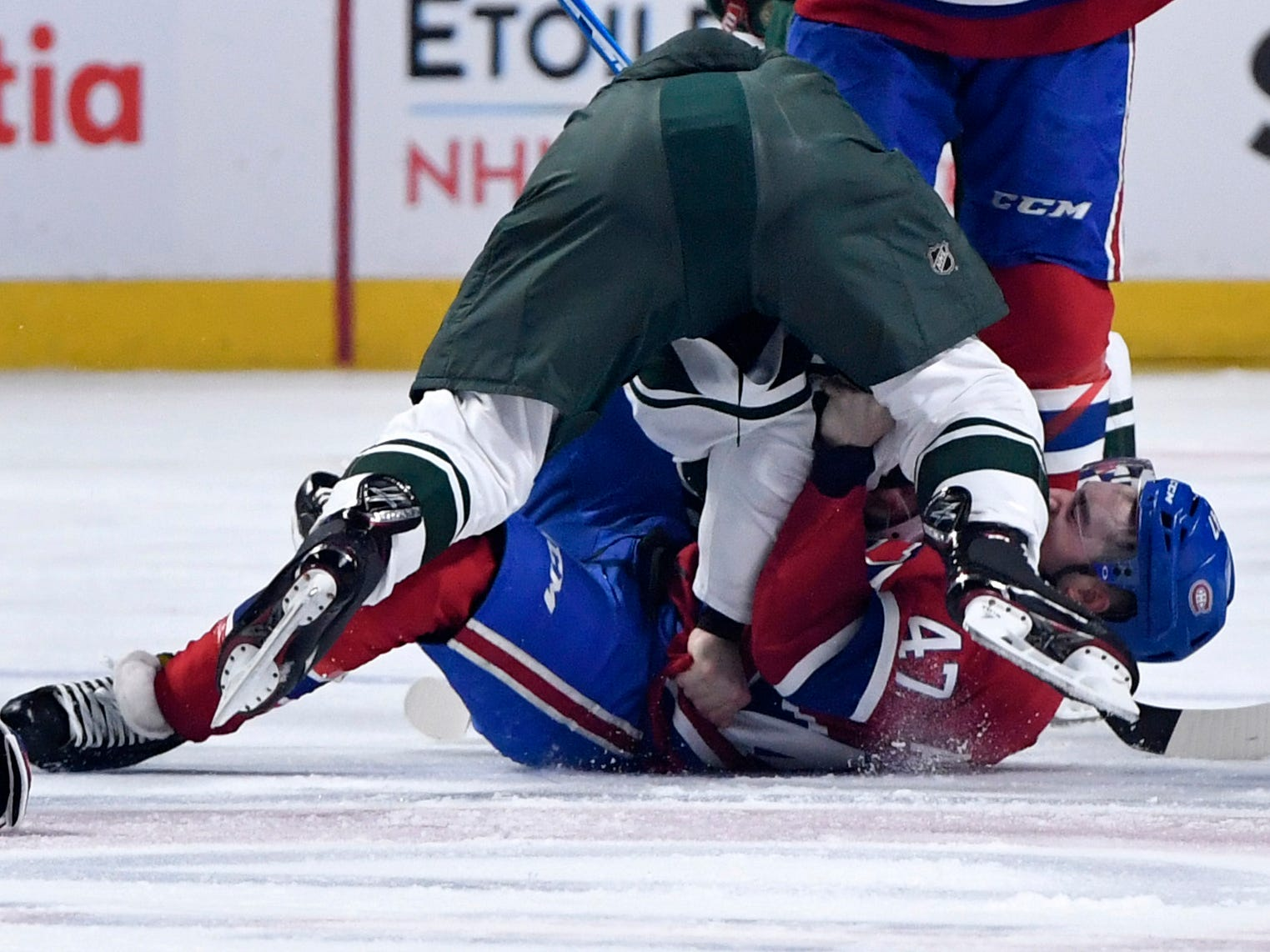 Jan. 7:  Minnesota Wild's Nick Seeler vs. Montreal Canadiens' Kenny Agostino