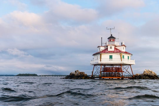 Thomas Point Shoal Light is Maryland's most well know lighthouse in the Chesapeake Bay.