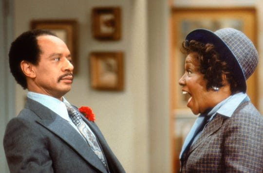 "Sherman Hemsley and Isabel Sanford in ""The Jeffersons"" (1975-85), which was spun off from ""All in the Family."""