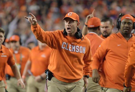 Clemson coach Dabo Swinney