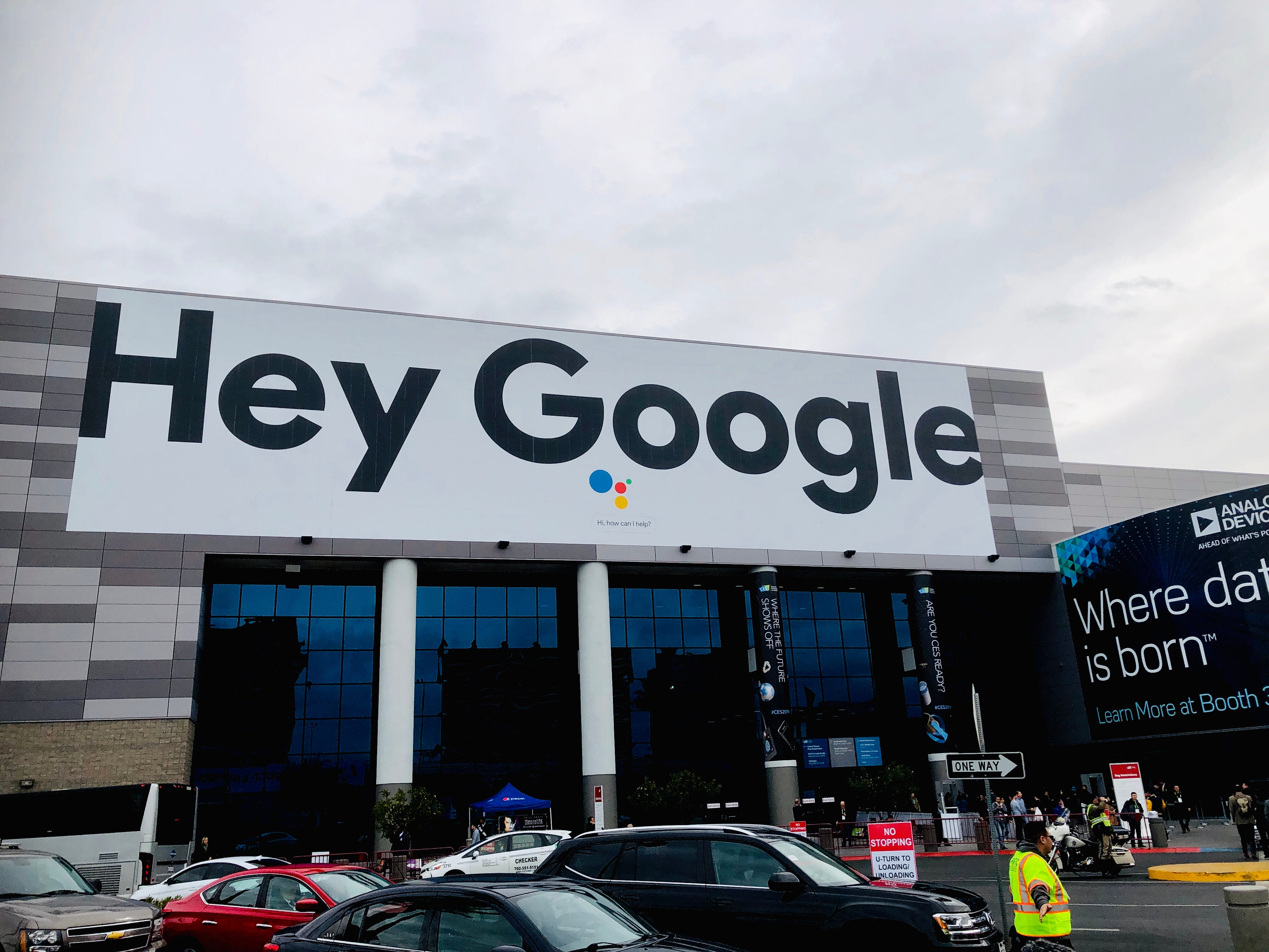 """Google's signs are all over CES, touting the """"Google Assistant,"""" Google's answer to Amazon's Alexa."""