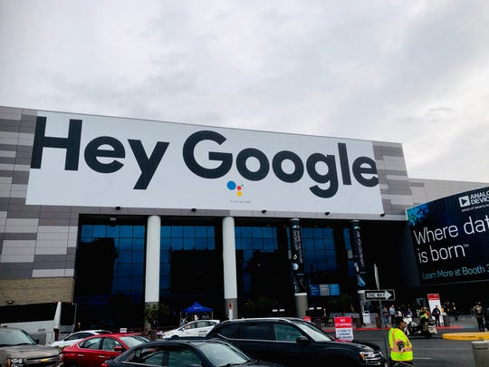 "Google's signs are all over CES, touting the ""Google Assistant,"" Google's answer to Amazon's Alexa."