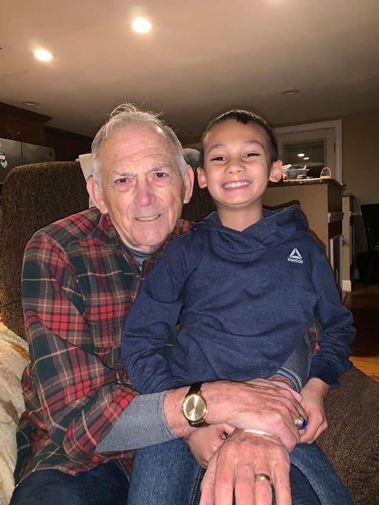 Somset police: grandson saves grandpa