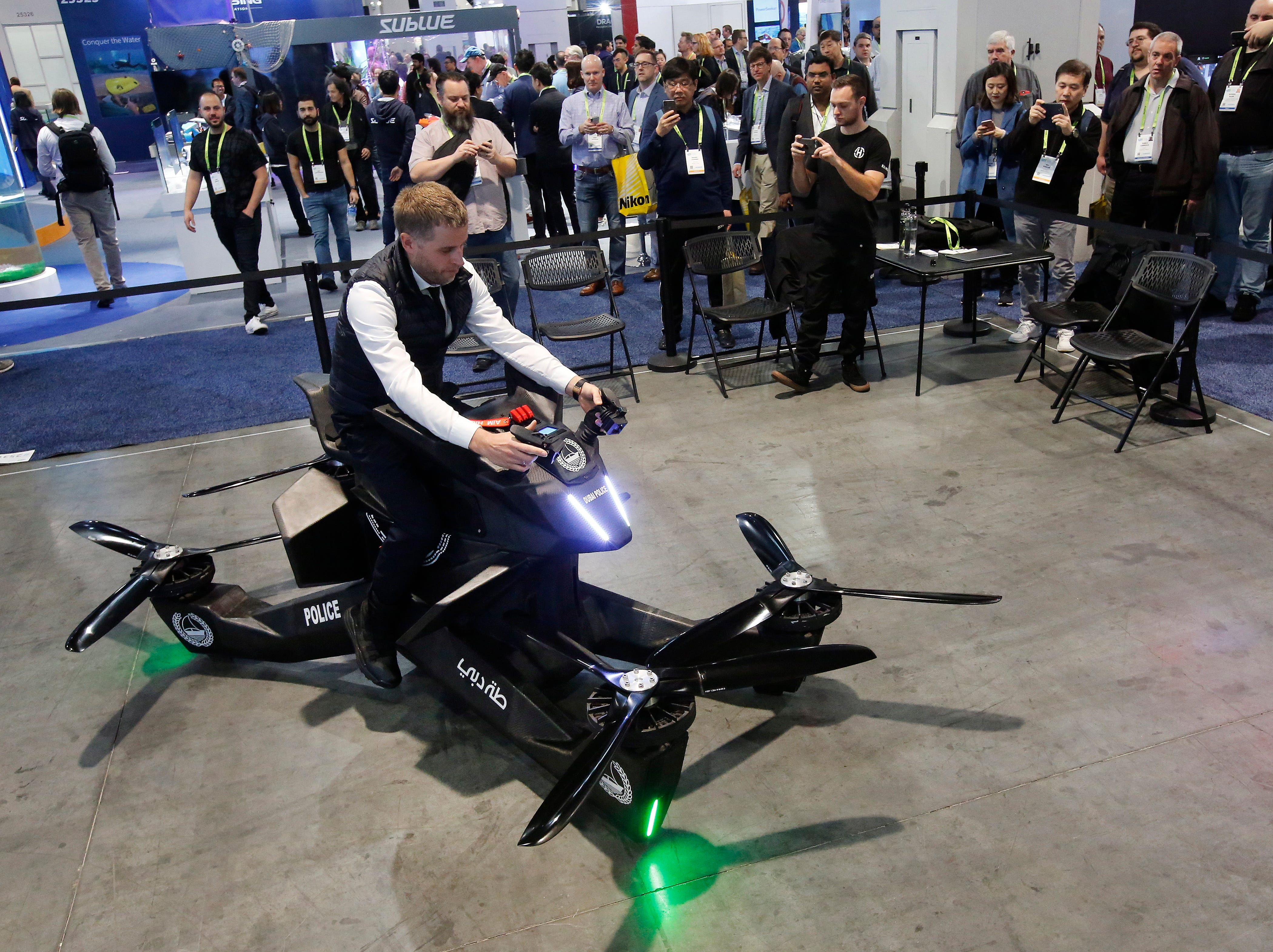 A Hoverbike on the opening day of the 2019 International Consumer Electronics Show.