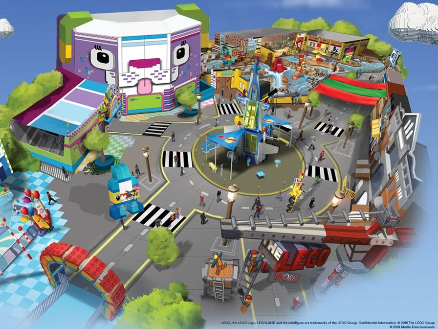 The land will also include Unikitty's Disco Drop, a drop tower ride; Battle of Bricksburg, a ride that will arm passengers with water sprayers; and Emmet's Super Suite, where visitors will be able to meet characters from the movies.