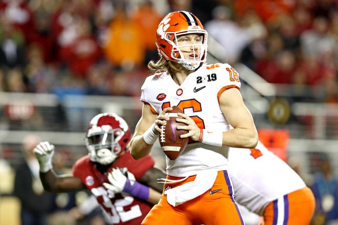 Freshman Trevor Lawrence led the Clemson Tigers to a 44-16 win over Alabama on Monday for the college football championship.