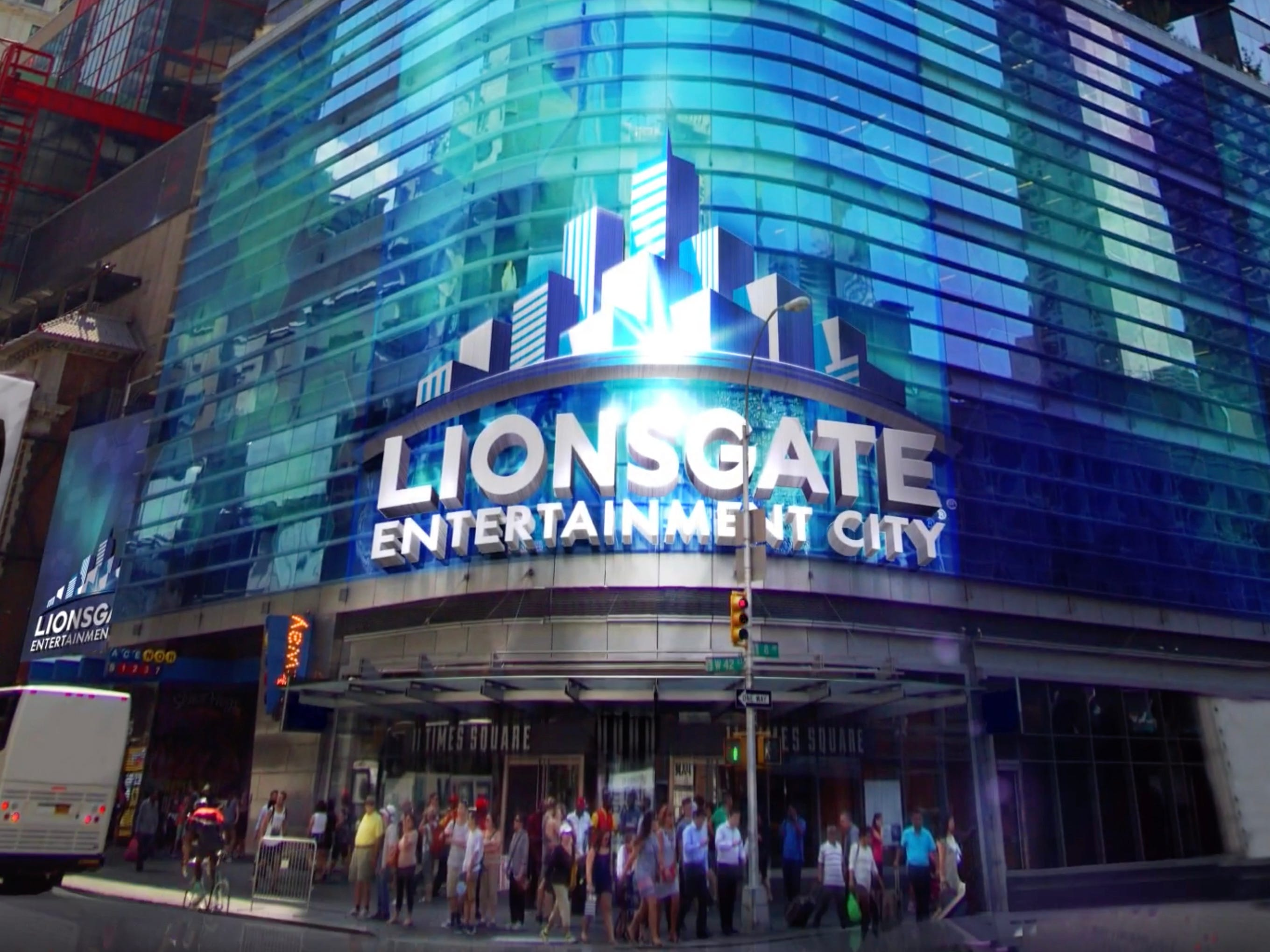 """Lionsgate Entertainment City in New York City's Times Square will present experiences based on the movie studio's films and television shows such as """"Divergent,"""" """"Gods of Egypt"""" and """"Ash vs Evil Dead."""""""