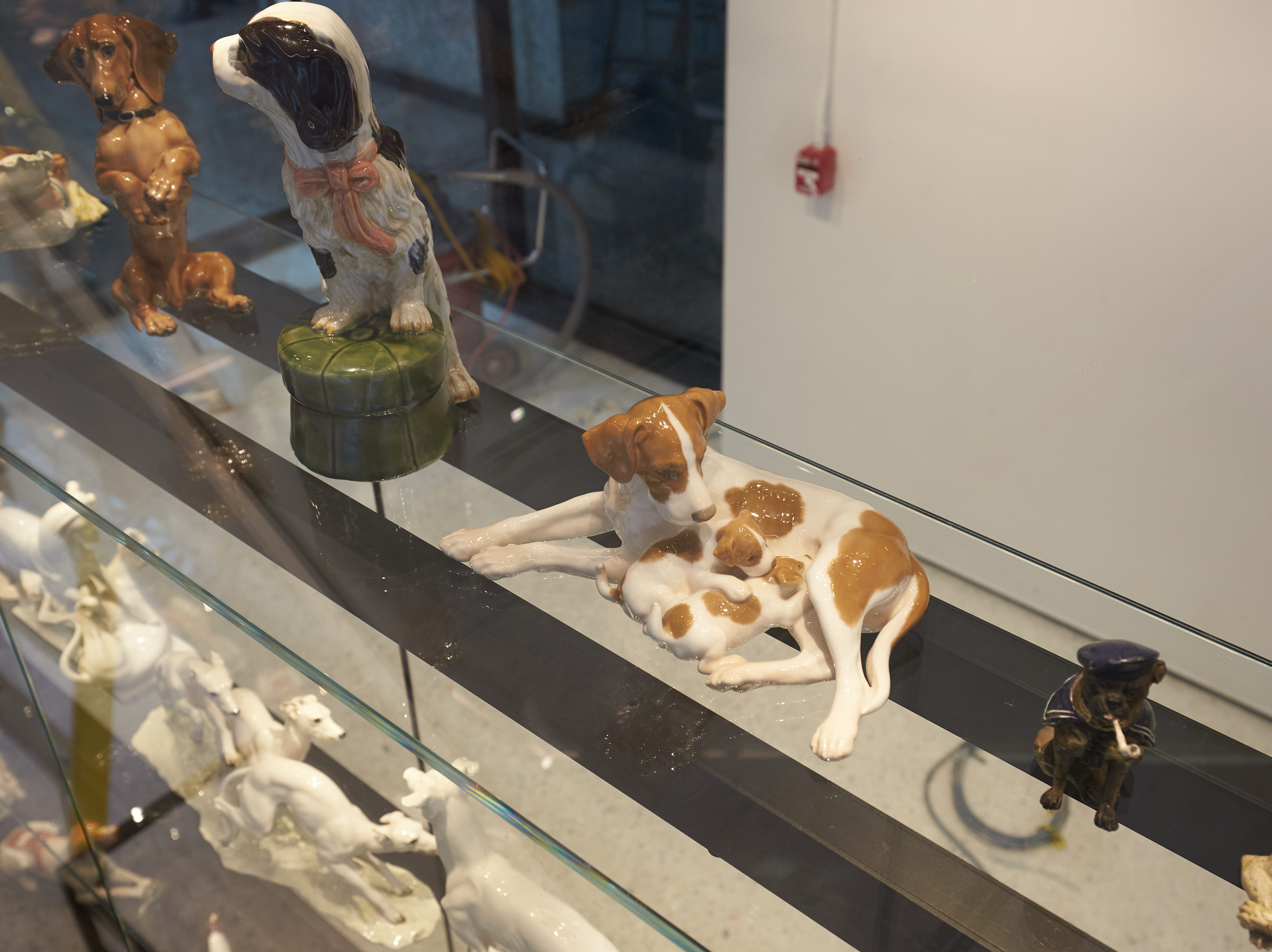 The Museum of the Dog has rare porcelain and bronze dog statues.