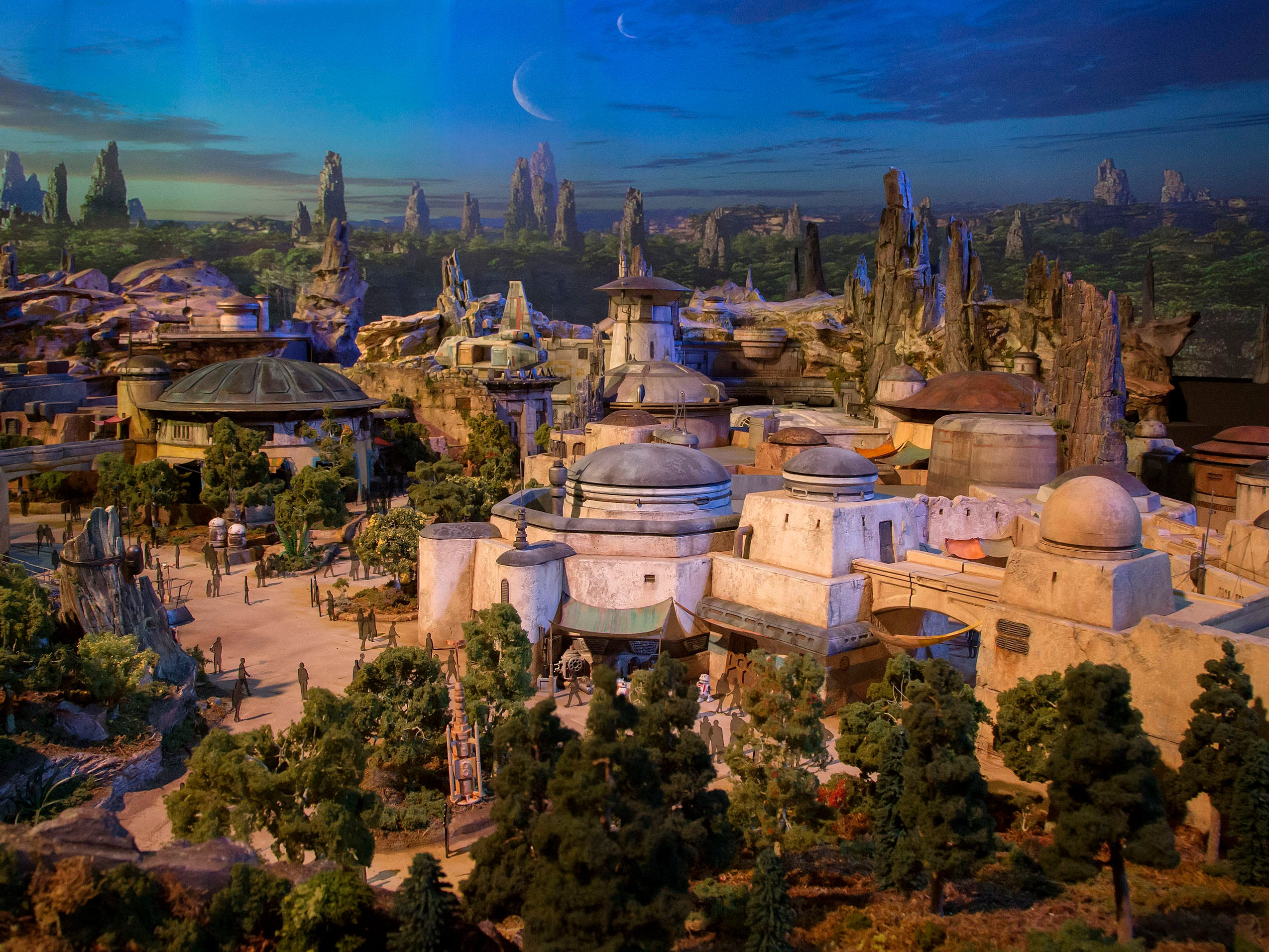 Two rides will headline the lavishly themed, nearly identical 14-acre Star Wars: Galaxy's Edge lands coming to both of Disney's U.S. resorts. Millennium Falcon: Smugglers Run will empower visitors to take control of Han Solo's famed hunk-of-junk starship, while Star Wars: Rise of the Resistance will place them on the front lines of a skirmish between the Resistance and the First Order.