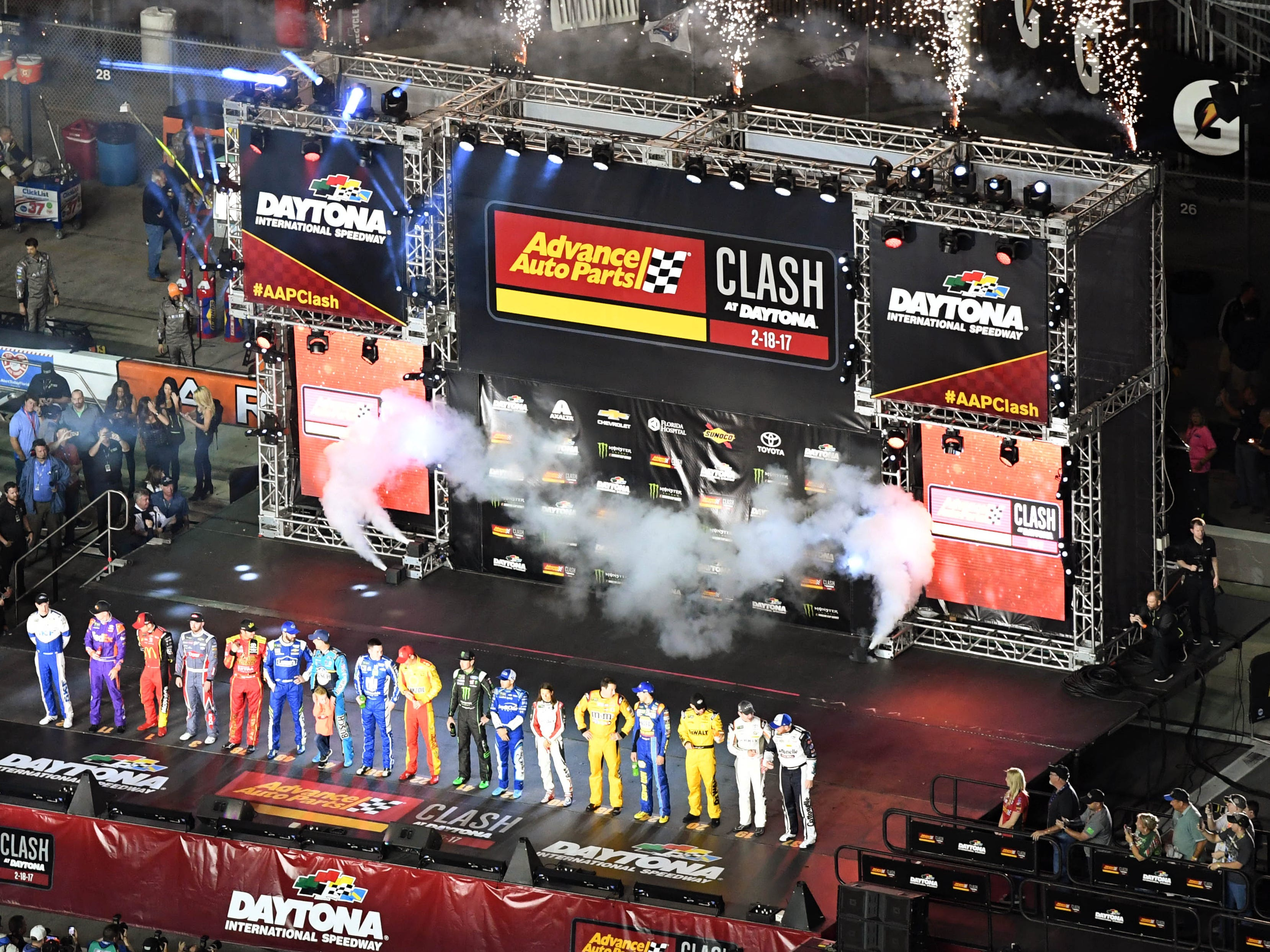 Feb 10:  Advance Auto Parts Clash at Daytona International Speedway (3 p.m., FS1).