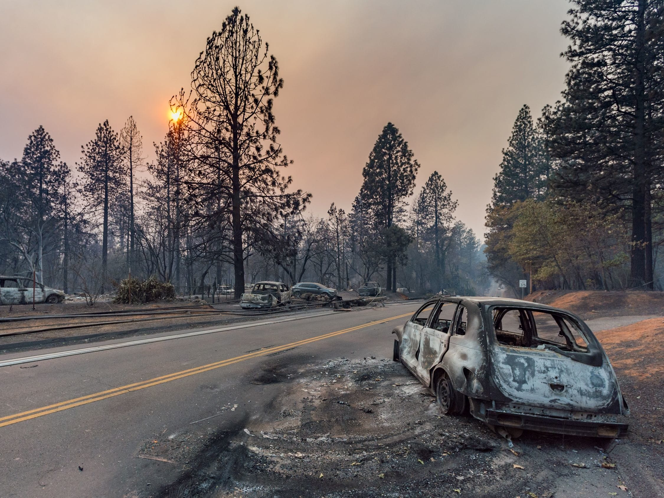 The Camp Fire swept through Paradise, Calif., destroying thousands of homes on Nov. 17, 2018.