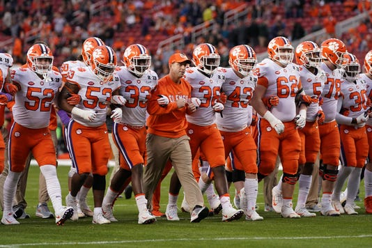 Ncaa Football College Football Playoff National Championship Clemson Vs Alabama