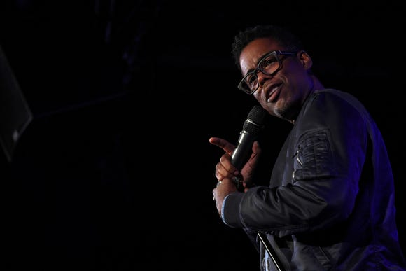 Chris Rock performing in Brooklyn last October. The stand-up says he won't return to host the Oscars for a third time next month.