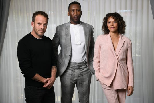 Stephen Dorff, left, Mahershala Ali and Carmen Ejogo play characters immersed in a criminal investigation and its fallout in Season 3 of HBO's 'True Detective.'