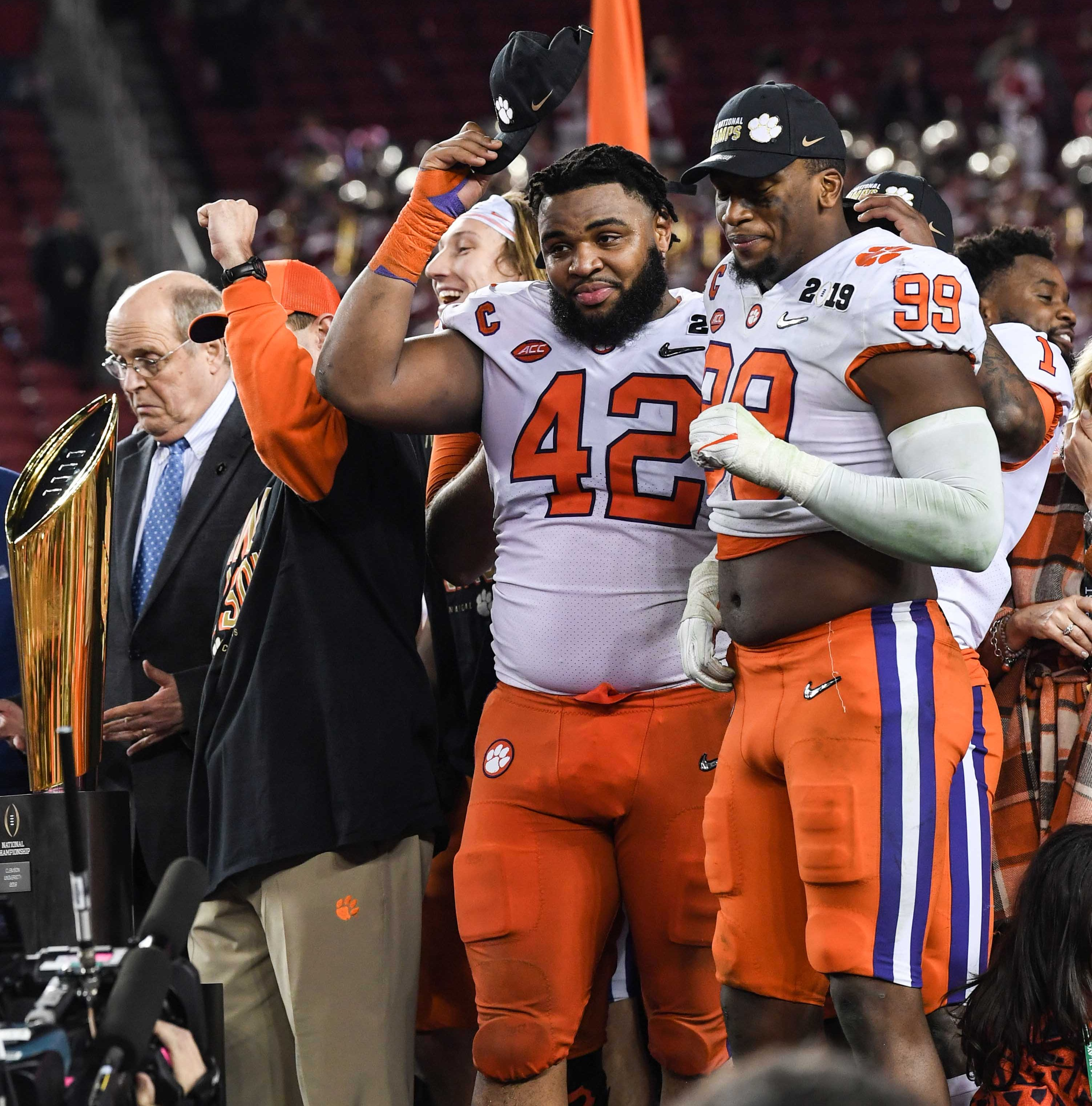 A Clemson thank-you to the orange-clad Power Ranger