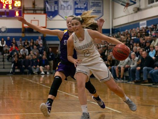 St. Rose Girls Basketball vs Manasquan in Manasquan, NJ on January 8, 2019.