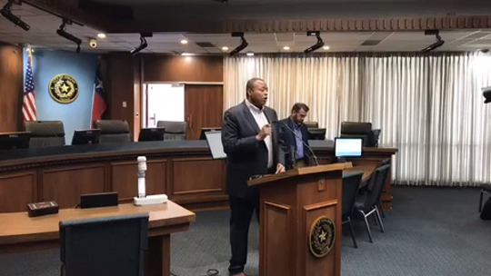 Abilene Mayor Anthony Williams and Councilman Kyle McAlister address Wednesday, recent and past racist social media comments made by McAlister.