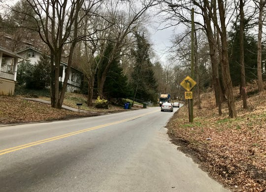 Installing sidewalks on the steep, winding part of Wood Avenue poses major logistical problems, including the need for retaining walls and a lack of buildable land next to the roadway, according to the city.
