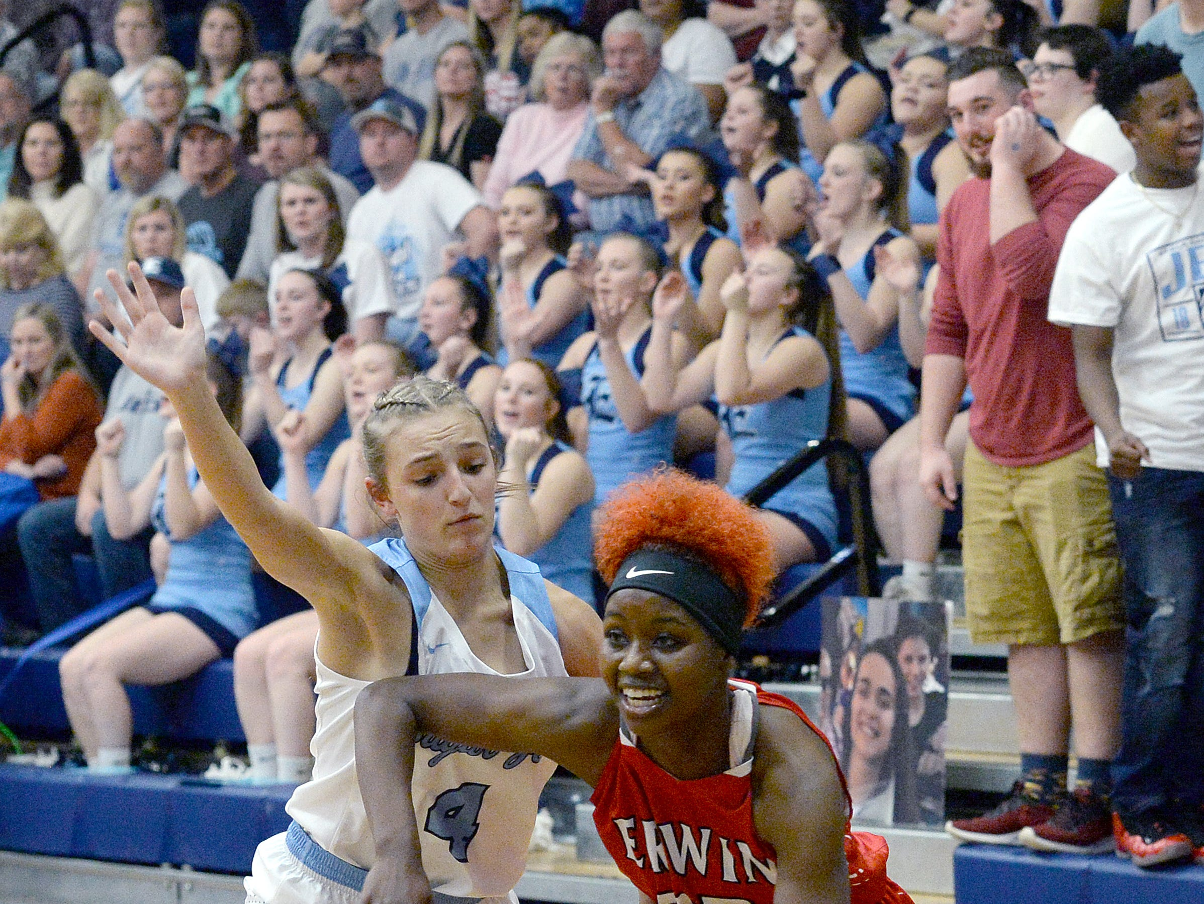 Erwin and Enka faced off at Enka High School on Jan. 8, 2019. The Lady Warriors defeated the Sugar Jets 61-45.