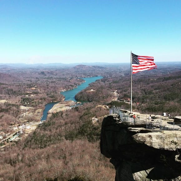 Chimney Rock State Park in Rutherford County is one of North Carolina's 40 state parks that are open and not affected by the National Parks shutdown.