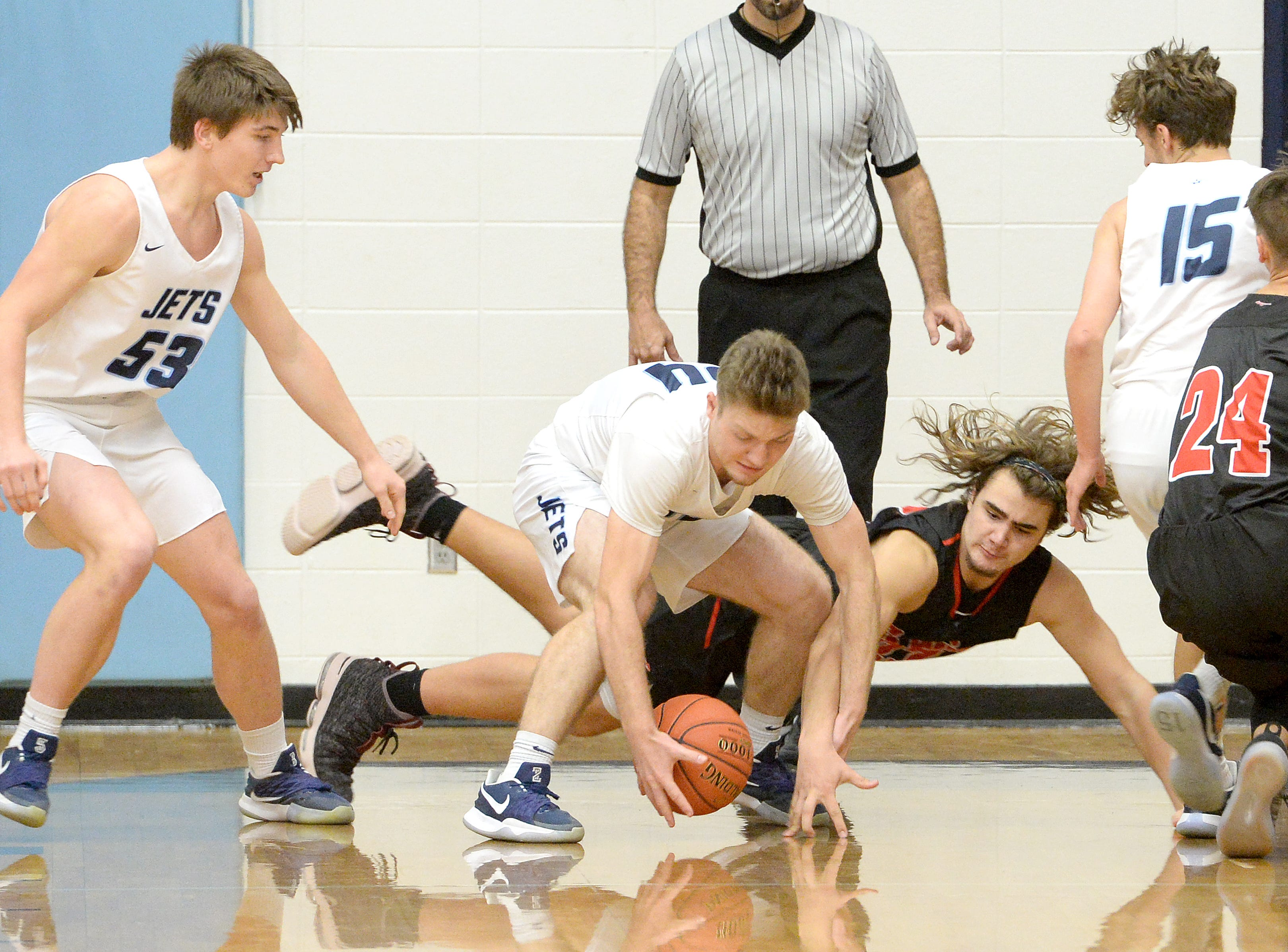 Erwin and Enka faced off at Enka High School on Jan. 8, 2019.