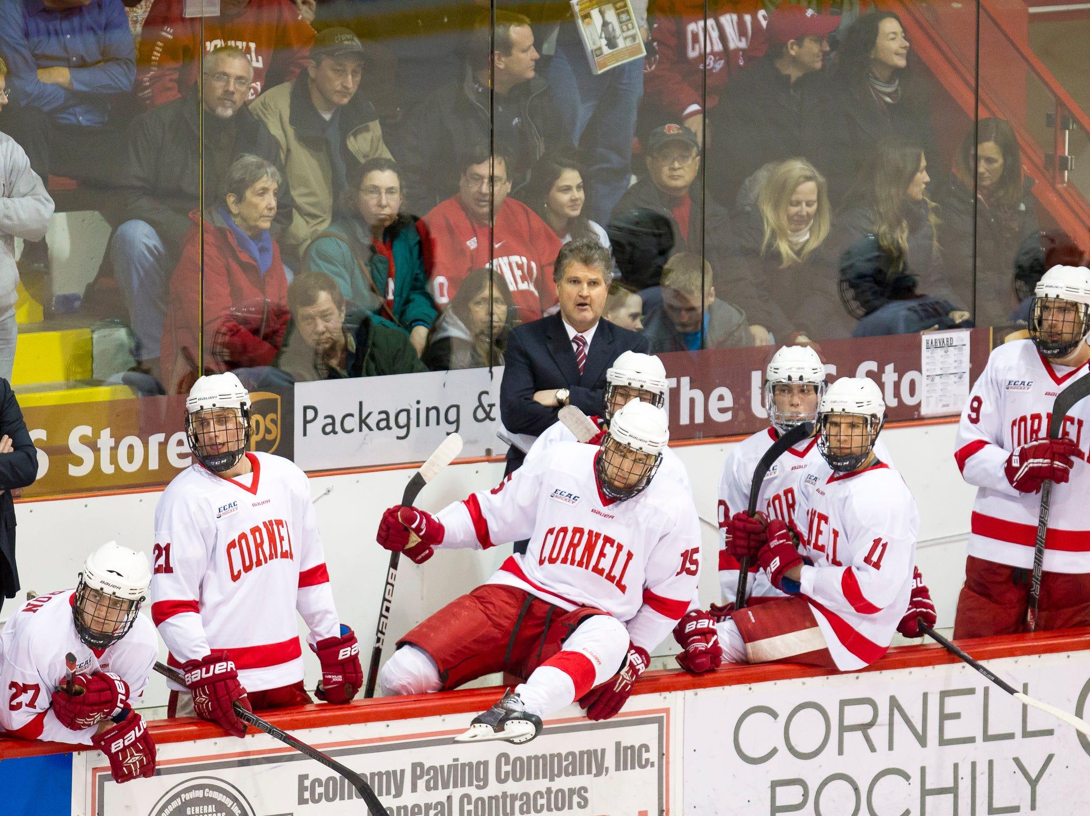 2014: Cornell Mens Hockey vs Harvard Saturday night at Lynah Rink. Cornell won 3-2 in overtime.