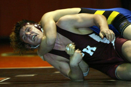 Brent Chriswell of South Kitsap lost this match at the Central Kitsap Matman tournament to Michael Johnson of Tahoma. But Chriswell didn't lose many matches during his decorated high school career, nor during a college career in which he won three Pac-10 championships.