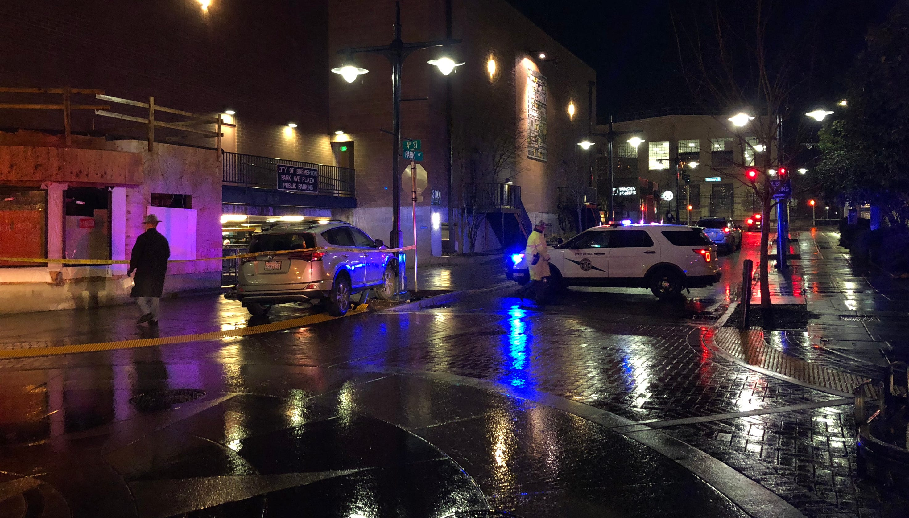 Car Chase Ends In Crash In Downtown Bremerton