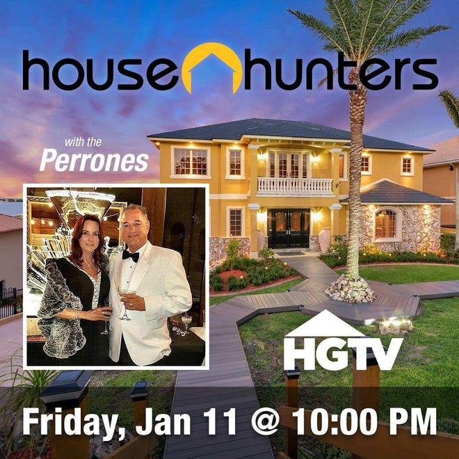 """Ralph and Cynthia Perrone will be featured on HGTV's """"House Hunters"""" at 10 p.m. Friday."""