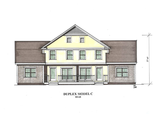 One of several designs for duplex housing at Dorset Meadows, submitted by the developer to South Burlington's Planning and Zoning Department on Dec. 18, 2018.