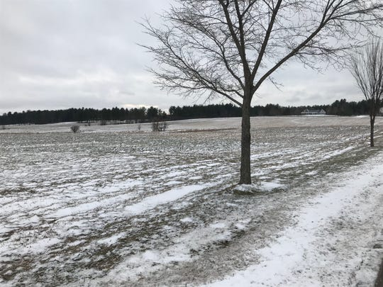 "A large house in South Burlington overlooks a hay field proposed for 150 housing units: ""Dorset Meadows,"" as seen on Jan. 8, 2019."