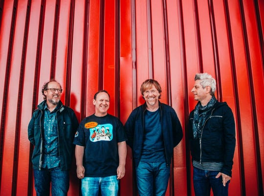 Phish, the jam band born at the University of Vermont, consists of (left to right) Page McConnell, Jon Fishman, Trey Anastasio and Mike Gordon.