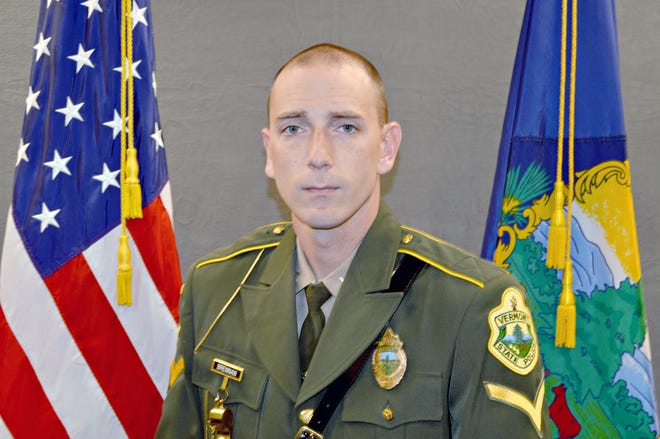 Official Vermont State Police photo of Trooper Sean Brennan of the St. Johnsbury barracks taken in October 2017.