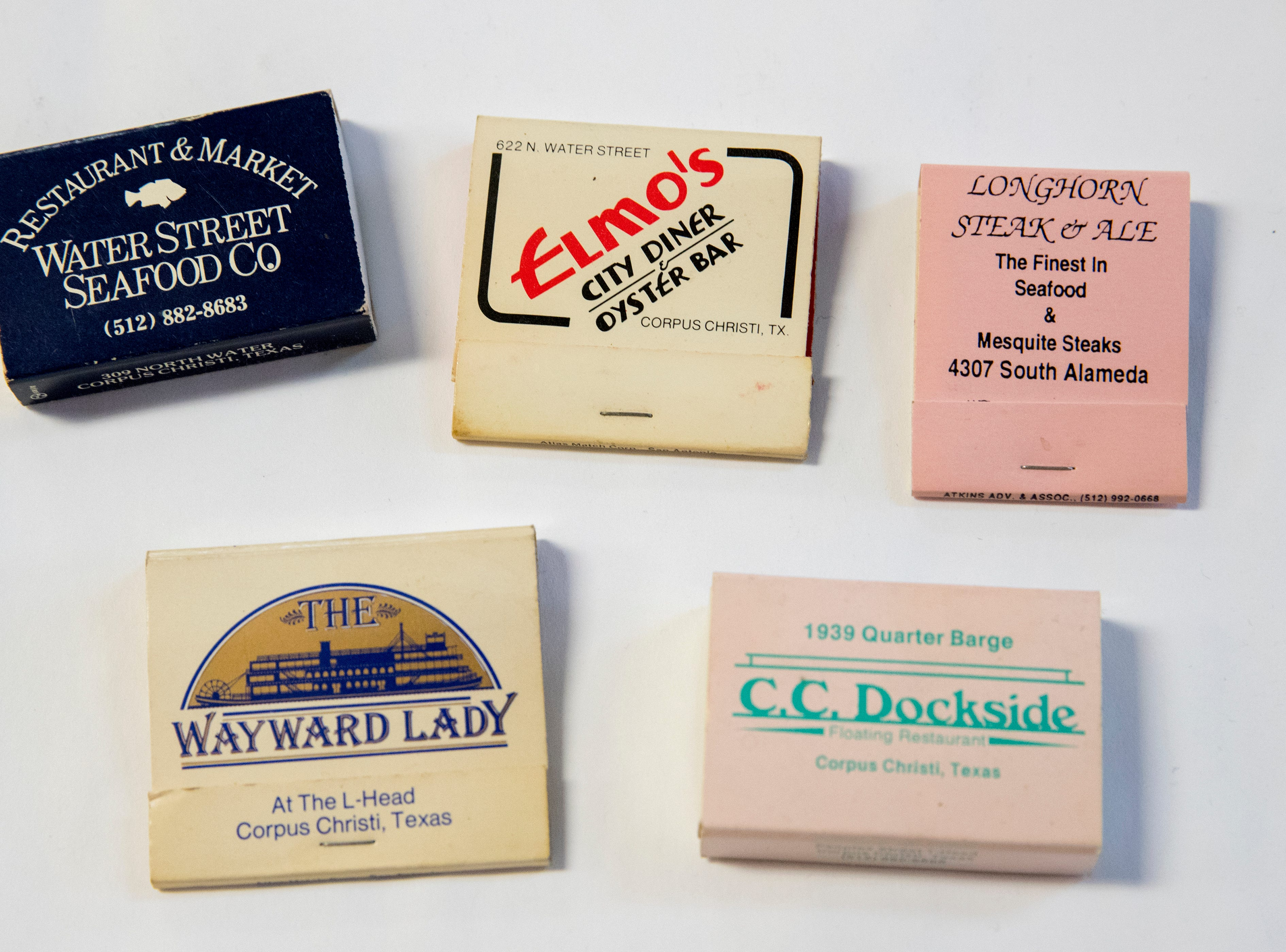 Matchbooks from local businesses provide a look back at Corpus Christi history.