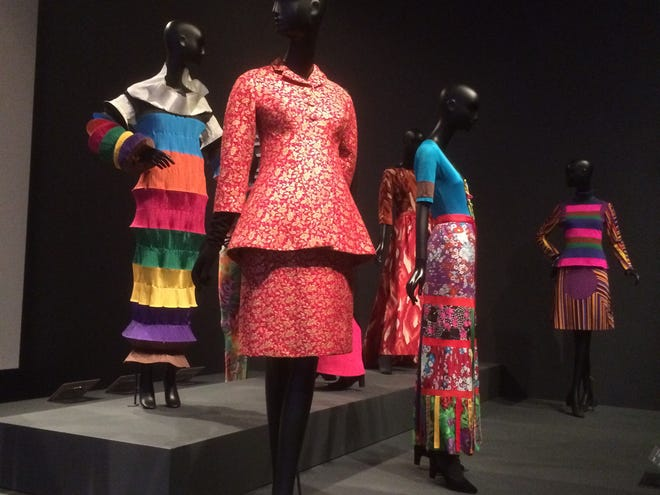 "This is a partial view of 'Fabulous Fashion' installation dealing with ""Color and Pattern' at the Philadelphia Museum of Art in Philadelphia."