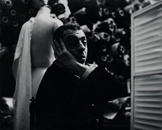 A portrait of James Galanos, circa 1955.