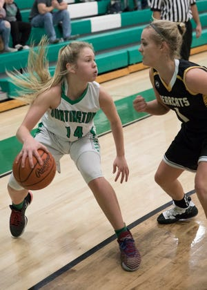 Huntington sophomore Allison Basye was named Division III third team All-Ohio after averaging 23 points per game this season.