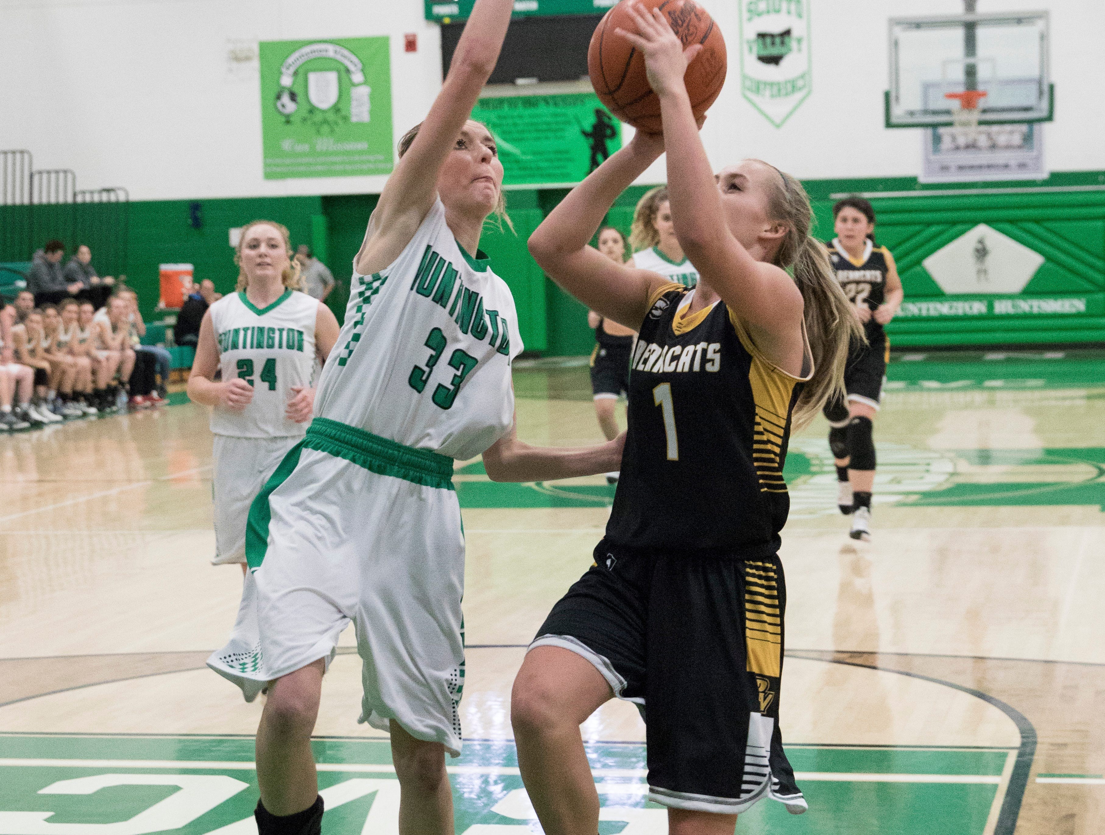 Huntington defeated Paint Valley Tuesday night 68-51 at Huntington High School, giving Huntington second standing in the SVC.