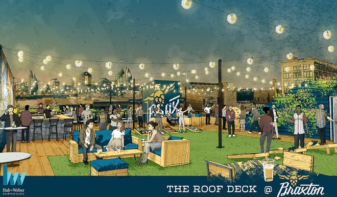 A rendering of the Braxton Roof Deck, coming summer 2019