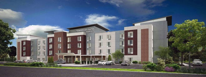Construction has begun on a new TownePlace Suites by Marriott  extended stay hotel on Ohio 4 in Fairfield that will look like this. It  is slated to open next fall.