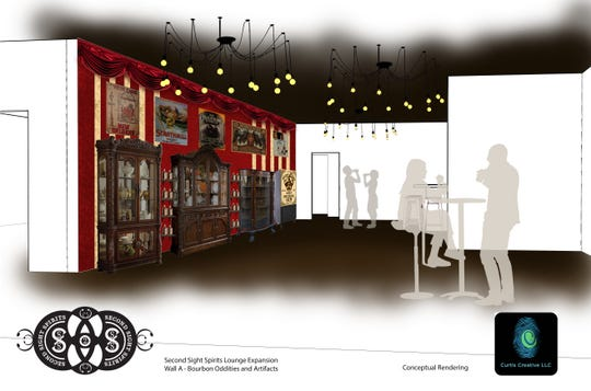 Rendering of expansion room for Second Sight Spirits in Ludlow