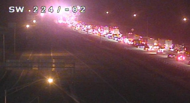 NB I-71 is closed at Fields Ertel Road for a crash Wednesday morning.