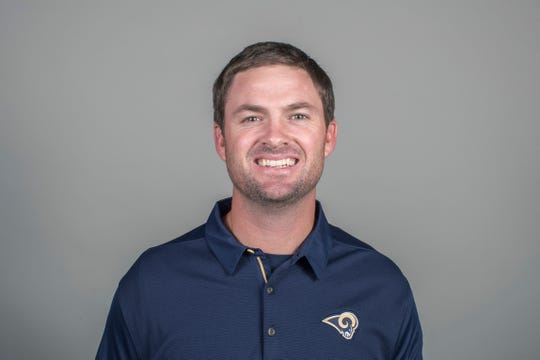 This Thursday, April 26, 2018  file photo shows Zac Taylor of the Los Angeles Rams NFL football team.