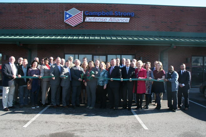 Leaders gathered Tuesday to dedicate the new offices of Fort Campbell Strong, a regional alliance dedicated to promoting the interests of Fort Campbell and related economic development.